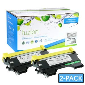 Cartouches Toner Laser Brother TN450 Compatible Toner – Black (2/Pack)