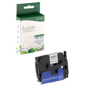 Rubans pour étiqueteuses Brother TZE-231 12mm Tape – Black on White