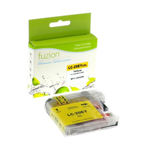 Cartouches à jet d'encre Brother LC20EY Inkjet – XXL Yellow