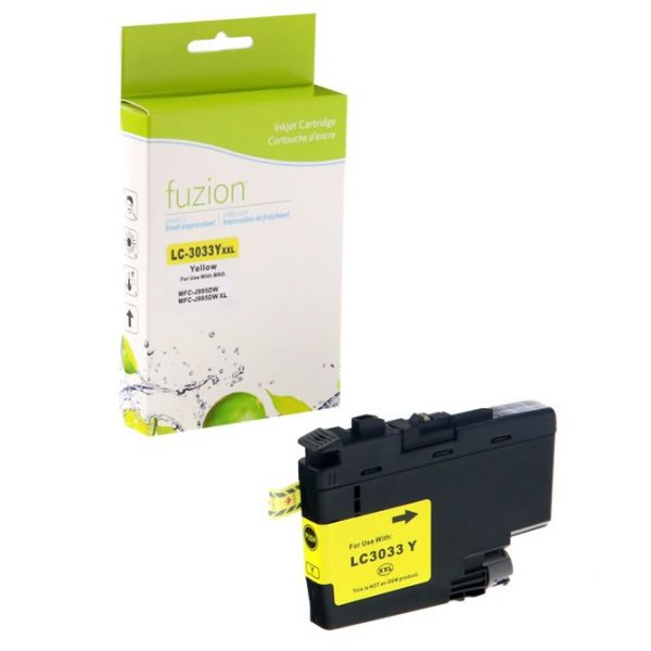 Cartouches à jet d'encre Brother LC3033Y Tank Inkjet – Super HY Yellow