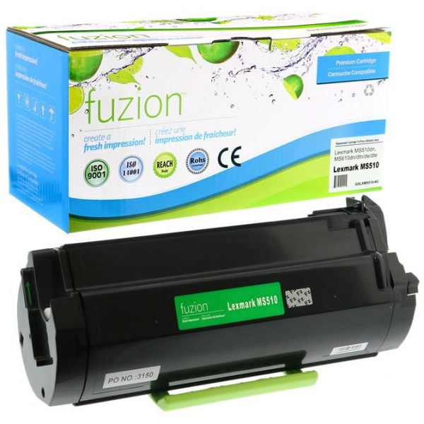 Cartouches Toner Laser Lexmark MS510D Ultra HY Reman Toner – Black