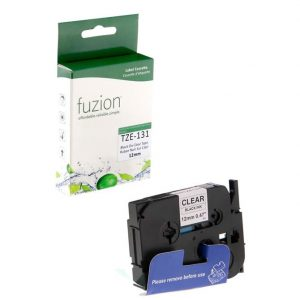 Rubans pour étiqueteuses Brother TZE-131 12mm Tape – Black on Clear