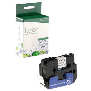 Rubans pour étiqueteuses Brother TZE-251 24mm Tape – Black on White