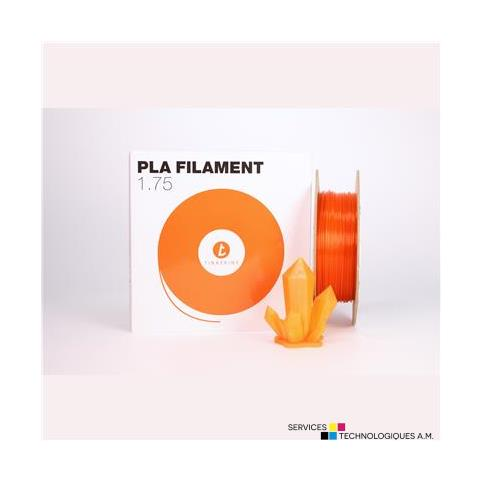 Filaments 3D Tinkerine FCSTangerine 1.75mm Transparent Orange PLA Filament