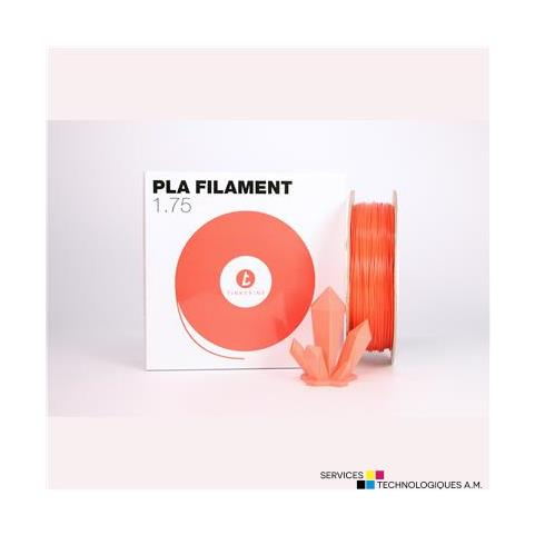 Filaments 3D Tinkerine FSSCherry 1.75mm Filament PLA Solide Rouge pastel